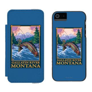 Fly Fishing Scene - Gallatin River, Montana Incipio Watson™ iPhone 5 Wallet Case