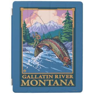 Fly Fishing Scene - Gallatin River, Montana iPad Cover