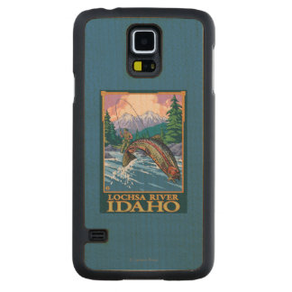 Fly Fishing Scene - Lochsa River, Idaho Carved Maple Galaxy S5 Case