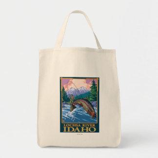 Fly Fishing Scene - Lochsa River, Idaho Tote Bag