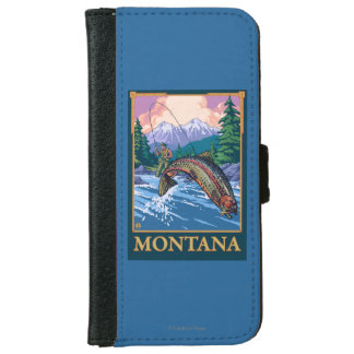 Fly Fishing Scene - Montana iPhone 6 Wallet Case