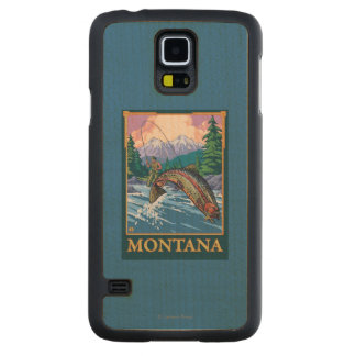 Fly Fishing Scene - Montana Maple Galaxy S5 Slim Case