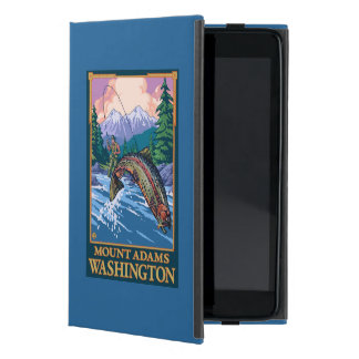Fly Fishing Scene - Mount Adams, Washington Case For iPad Mini