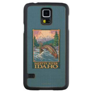 Fly Fishing Scene - Payette River, Idaho Carved Maple Galaxy S5 Case