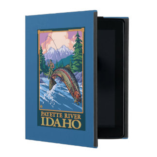 Fly Fishing Scene - Payette River, Idaho iPad Folio Cover