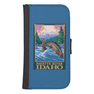 Fly Fishing Scene - Payette River, Idaho Samsung S4 Wallet Case