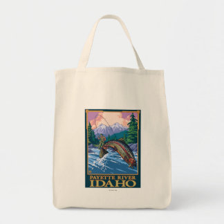Fly Fishing Scene - Payette River, Idaho Tote Bag