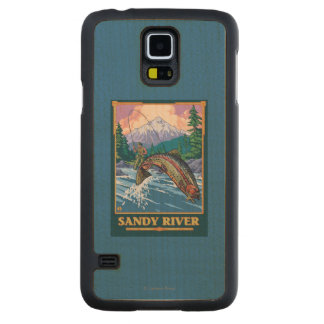 Fly Fishing Scene - Sandy River, Oregon Maple Galaxy S5 Slim Case