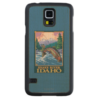 Fly Fishing Scene - Snake River, Idaho Carved Maple Galaxy S5 Case