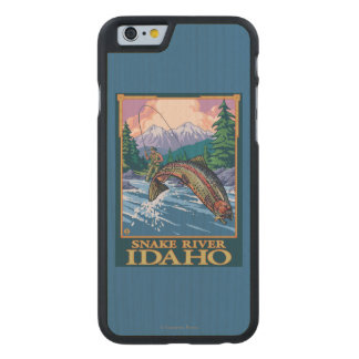 Fly Fishing Scene - Snake River, Idaho Carved® Maple iPhone 6 Slim Case