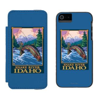Fly Fishing Scene - Snake River, Idaho Incipio Watson™ iPhone 5 Wallet Case