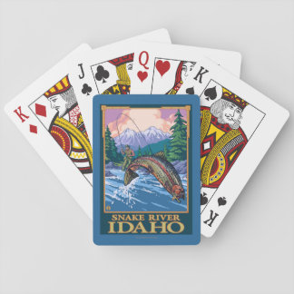 Fly Fishing Scene - Snake River, Idaho Playing Cards