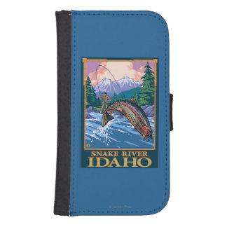 Fly Fishing Scene - Snake River, Idaho Samsung S4 Wallet Case