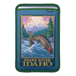 Fly Fishing Scene - Snake River, Idaho Sleeve For MacBook Air