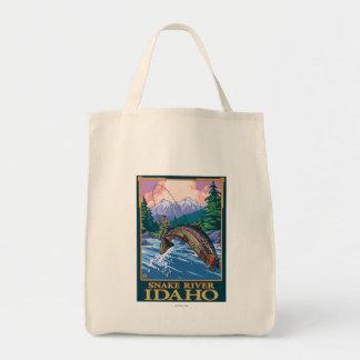 Fly Fishing Scene - Snake River, Idaho Tote Bag