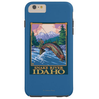 Fly Fishing Scene - Snake River, Idaho Tough iPhone 6 Plus Case