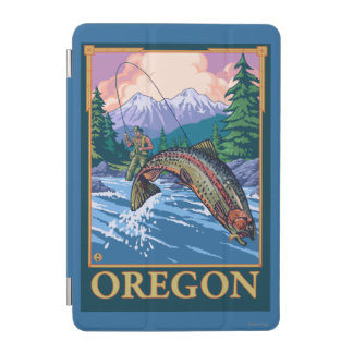 Fly Fishing Scene- Vintage Travel Poster iPad Mini Cover