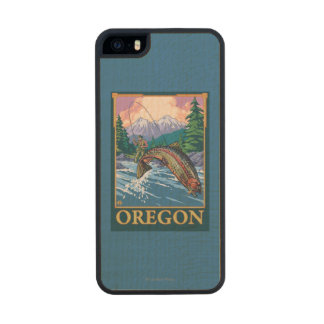 Fly Fishing Scene- Vintage Travel Poster iPhone 6 Plus Case