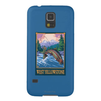 Fly Fishing Scene - West Yellowstone Case For Galaxy S5