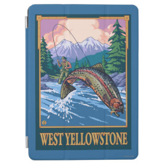 Fly Fishing Scene - West Yellowstone iPad Air Cover