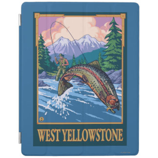 Fly Fishing Scene - West Yellowstone iPad Cover