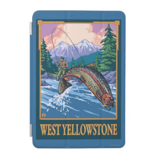 Fly Fishing Scene - West Yellowstone iPad Mini Cover
