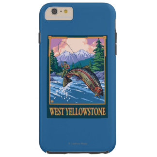 Fly Fishing Scene - West Yellowstone Tough iPhone 6 Plus Case