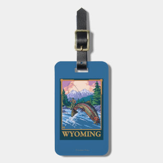 Fly Fishing Scene - Wyoming Luggage Tag