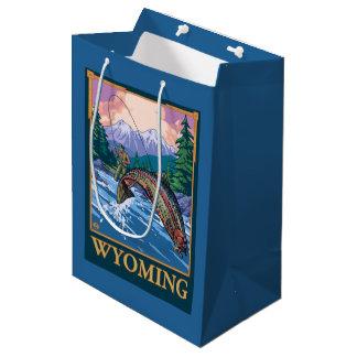 Fly Fishing Scene - Wyoming Medium Gift Bag