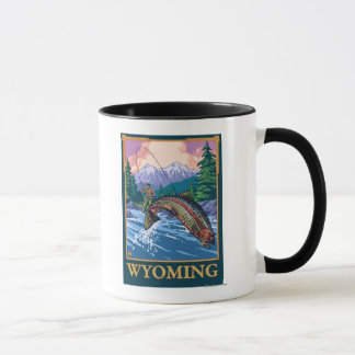 Fly Fishing Scene - Wyoming Mug