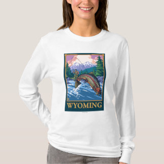 Fly Fishing Scene - Wyoming T-Shirt