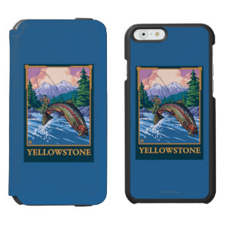 Fly Fishing Scene - Yellowstone National Park Incipio Watson™ iPhone 6 Wallet Case