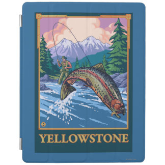 Fly Fishing Scene - Yellowstone National Park iPad Cover
