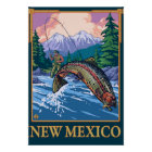 Fly Fishing SceneNew Mexico Poster