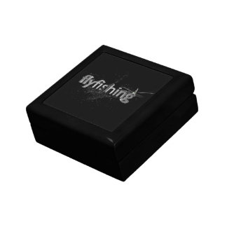 Fly fishing small square gift box