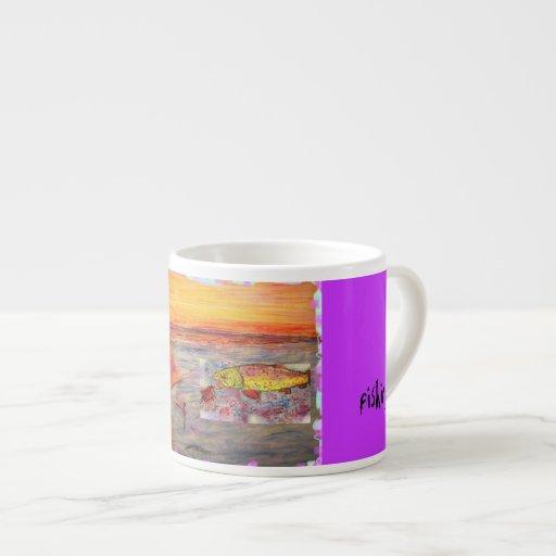 fly fishing espresso mug