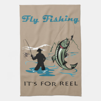 Fly Fishing Tea Towel