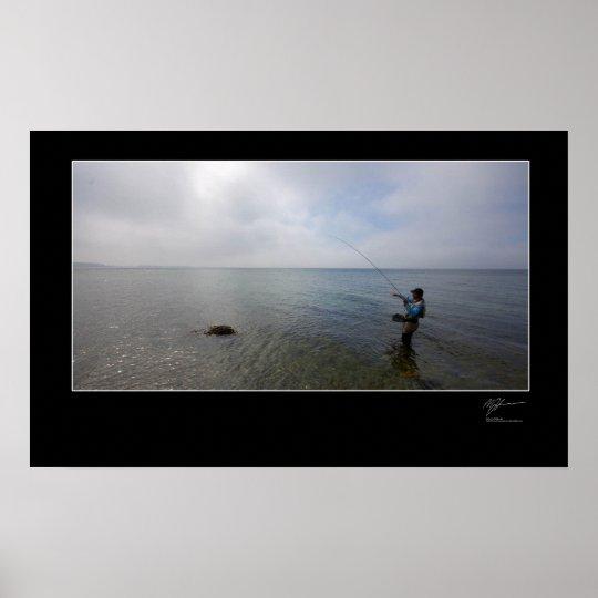 Fly-fishing the Danish coast Poster