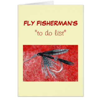 """Fly Fishing """"to do"""" list card """"Black Gnat"""""""