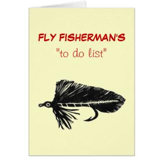 "Fly Fishing ""to do"" list card ""Black Matuka"""