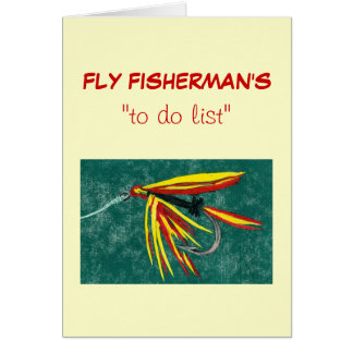 "Fly Fishing ""to do"" list card ""Firecracker"""