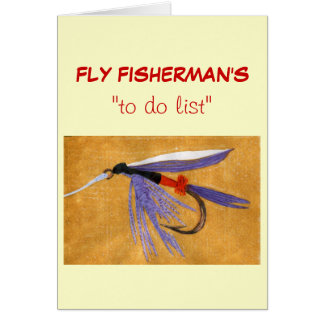 "Fly Fishing ""to do"" list card ""Freight Train"""