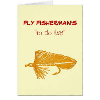 "Fly Fishing ""to do"" list card ""Gold Matuka"""