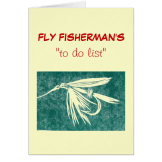 """Fly Fishing """"to do"""" list card green wet fly"""