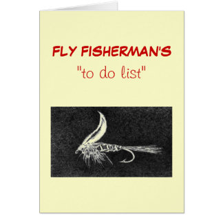 "Fly Fishing ""to do"" list card ""Hare""s Ear"""