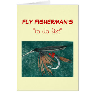 "Fly Fishing ""to do"" list card ""iron blue dun"""