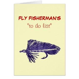 "Fly Fishing ""to do"" list card Matuka"