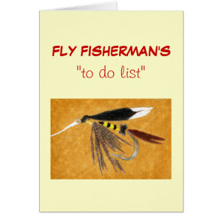 """Fly Fishing """"to do"""" list card """"McGinty"""""""
