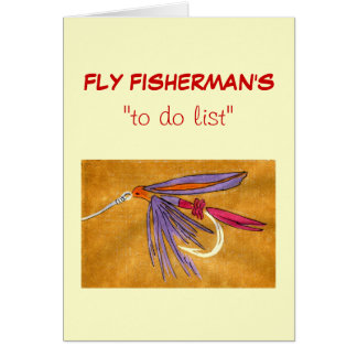 "Fly Fishing ""to do"" list card ""Pink and Purple"""