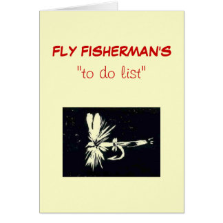 "Fly Fishing ""to do"" list card ""royal coachman"""